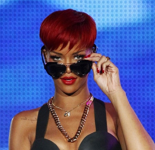 rihanna red hair 2010 only girl. Rihanna is releasing an album